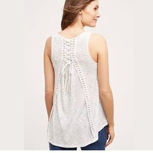 Anthropologie Lace-Up Swing Tank